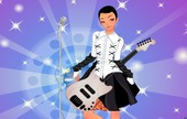 Dress-game-with-a-guitarist